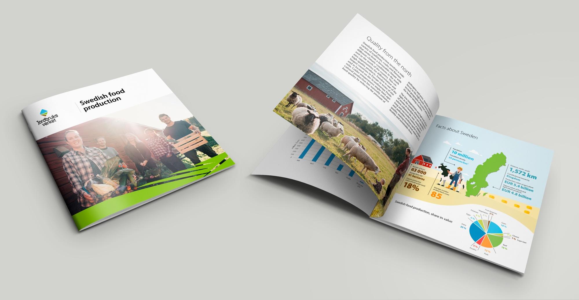 Mockup av Jordbruksverkets broschyrer