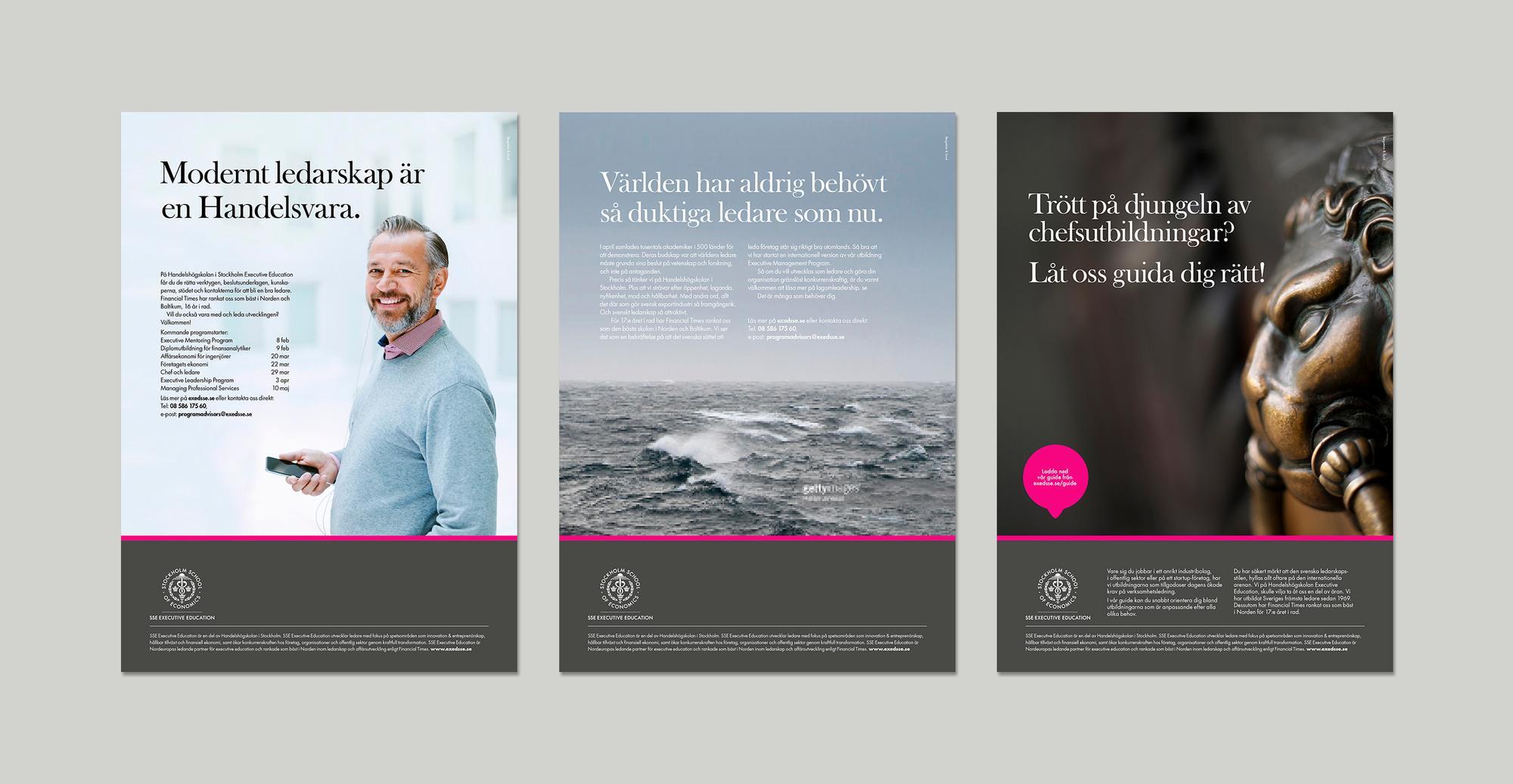 Mockup av annonser för SSE